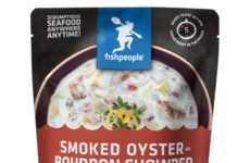 Bourbon-Infused Seafood Soups - Fishpeople's Seafood Chowder is Enhanced with a Smoky Spirit Flavor
