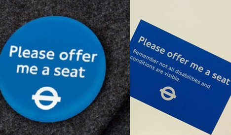 Priority Seating Badges - This TfL Badge and Card Campaign Support Those With Hidden Disabilities