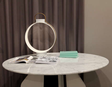 Rotating Spherical Lamps - The 'Nightingale' Light Uses a Ringed Shape to Give Off an Ambient Glow