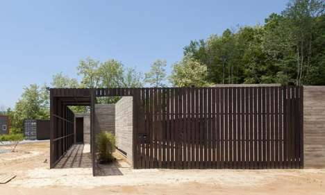 Wooden Flower Farms - The Archihood WXY Dandelion Herbal Facility Offers a Natural Timber Structure