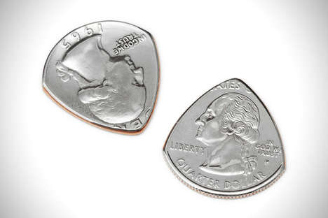 Repurposed Coin Plectrums - These Guitar Picks Are Creatively Made Out of American Currency