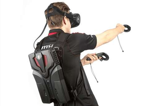 Wearable VR Computers - The MSI VR One Virtual Reality Backpack System Provides 90-Minutes of Use