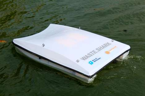 Garbage-Collecting Water Drones - The 'WaterShark' Gobbles Garbage as it Autonomously Cruises
