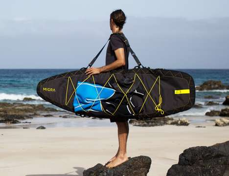 Surfboard-Protecting Luggage - The 'MIGRA' Surfboard Bag Provides Protection and Functionality