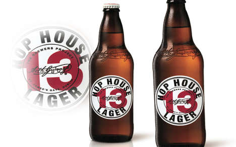Shareable Beer Packaging - The Guinness Hop House 13 Beer Lager Bottles are Focused on Experience