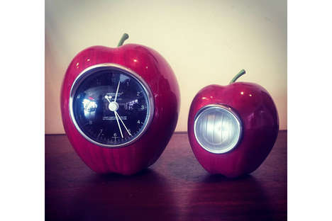Fruit-Shaped Clocks - The 'Undercover Gilapple' Will Soon Be Releasing a New Design