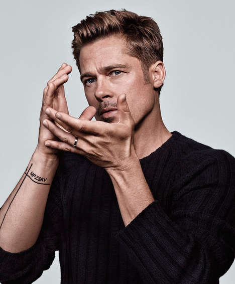 Artistic Actor Photography - This Brad Pitt Photo Series Was Lensed by Craig McDean for The NY Times