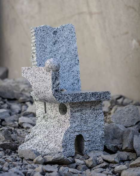 Technical Stone Chairs - The Campione Chair is Part of the Trentino Collaborations