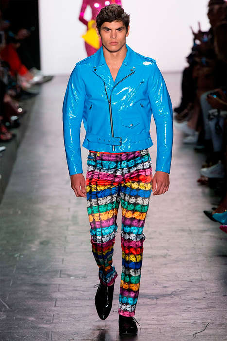Pop Art Menswear Concepts - These Six New Looks Were Debuted at the Jeremy Scott NYFW Runway Show