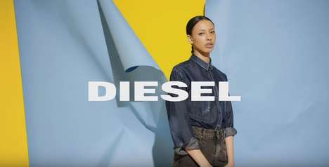 Playful Denim Campaigns - This Diesel Ad Encourages Its Viewers to Live Freely and Stylishly