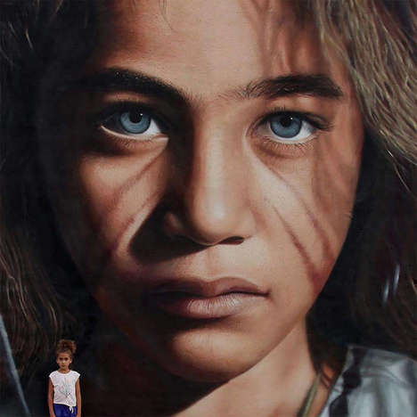 Hyper-Realistic Street Portraits - These Murals are So Intricate That They Appear to Be Photographs