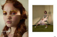 Glittering Makeup Portraits - 'To See the Light' Boasts Shimmering Clothes and Cosmetics
