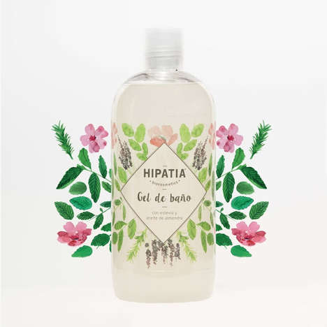 Organic Oil-Based Cosmetics - This Collection Bottles Were Designed to Reflect Natural Contents
