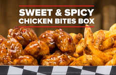 Savory Snack Duos - The Sweet & Spicy Chicken Bites & Fries Box Combines Two Snacks in One Dish