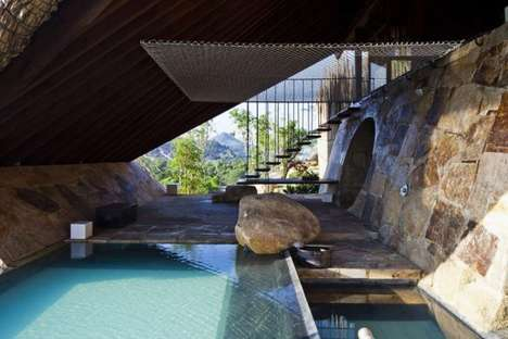 Grotto Spa Architecture - 'The Tent' by A21 Studio Marries Modern and Rustic Design Accents