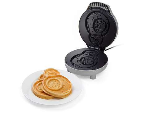 Galactic Waffle Makers - The Star Wars BB-8 Breakfast Cooker Shapes Hot Cakes as Astromech Droids