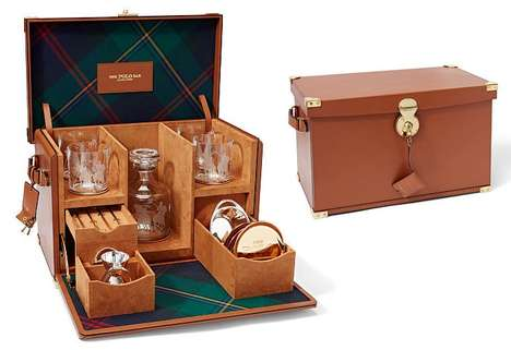 Portable Fashion Mixology Bars - The Ralph Lauren Polo Bar Mixology Box Can Go Just About Anywhere