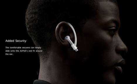Ergonomic Earpiece Clips - The AirPod Securer Ear Clips Ensure the Expensive Headphones Aren't Lost