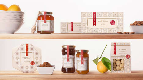 Exotic Artisanal Preserve Packaging - The Melina's Confections Branding Designs are Refined