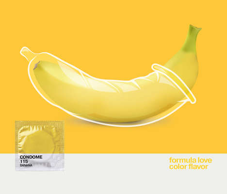 Condom Branding Concepts - This Condom Packaging Was Inspired by Pantone Swatches