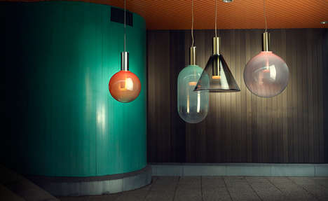Glass Bubble Lighting Collections - These Light Fixtures Were Created Through Several Collaborations