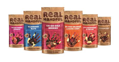 Scrumptious Healthy Dessert Snacks - Real Handful Snack Packs are Filled with Fiber-Rich Ingredients