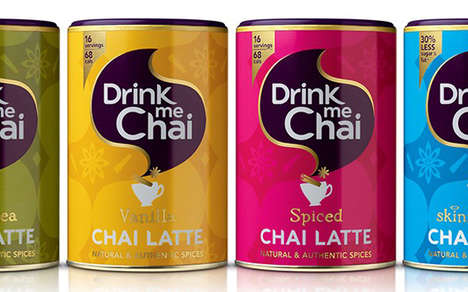 Heritage-Inspired Latte Packaging - The Drink Me Chai Drink Branding is Focused on Indian Heritage