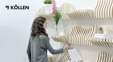 Modular Customization Bookshelves - The Köllen Bookshelf Furniture Can be Shifted to Suit Needs