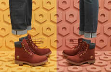 Denim-Accented Burgundy Boots - Timberland Updated Its Collection with a Fall-Ready Wine Colorway