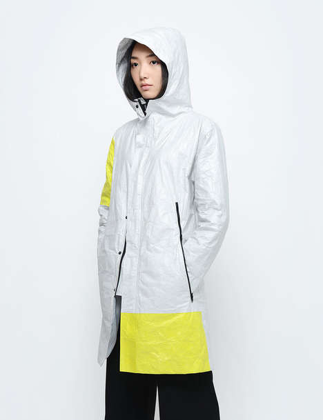 Weather Barrier Jackets - This Tyvek Jacket from Fyber Forma is Made from a Construction Material