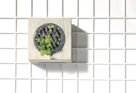 Concrete Shower Drain Planters - The Haisui Planter Container Highlights Nature's Resilience