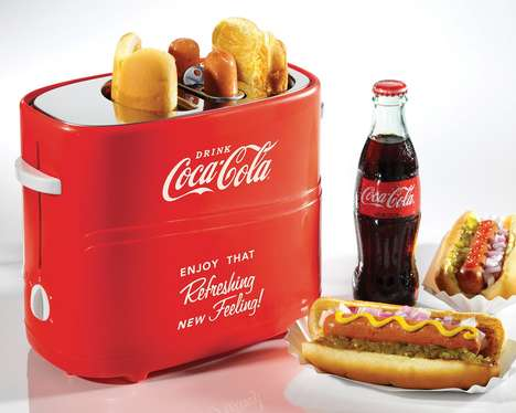Branded Hot Dog Makers - The Coca-Cola Pop-Up Hot Dog Toaster Cooks Everything at Once