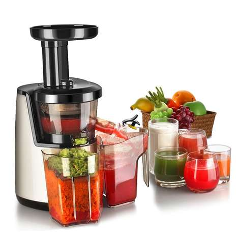 In-Home Cold Press Juicers - The Flexzion Cold Press Juicer Machine Makes DIY Fresh Juices Simple