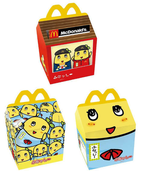 Collectible Meal Boxes - Mcdonald's Japan is Now Serving Limited-Edition Funassyi Happy Meal Boxes
