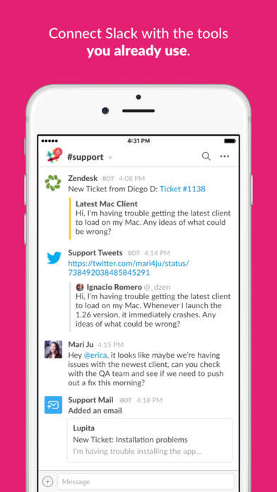 Color-Coded Communication Apps - The New Slack Desktop App Streamlines Team Communications