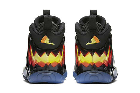 Kid's Jack-o'-Lantern Sneakers - Nike Updated Its 'Foamposite' Model with a Playful Halloween Theme