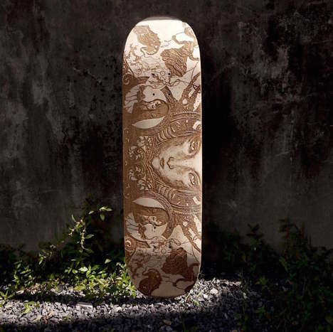 Custom Carved Skateboards - These Skateboards are Designed to Suit a User's Individual Style