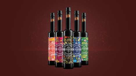 Anniversary-Celebrating Liquor Branding - Rezangyal Released Packaging for Its 10th Anniversary