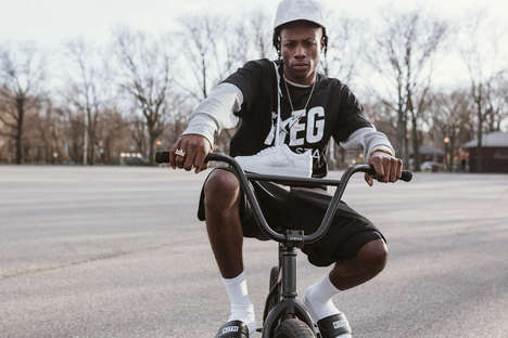 Rapper-Promoted Streetwear - Joey Bada$$ Played Muse for KITH and BAPE's Seasonal Apparel Series