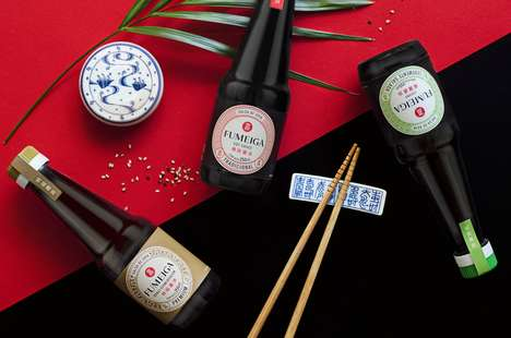 Porcelain-Inspired Packaging - The Fumeiga Soy Sauce Bottle Packaging Design is Culture-Focused