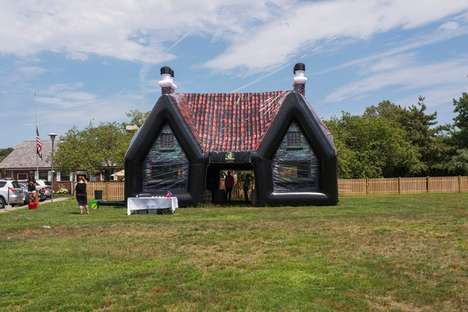Inflatable Irish Pubs - Paddy Wagon Pub Provides Bouncy Castle Bars for Backyard Events