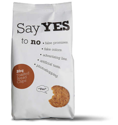 Discerning Chip Branding - 'Say Yes To No' Chips Encourage Consumers to Build Good Eating Habits