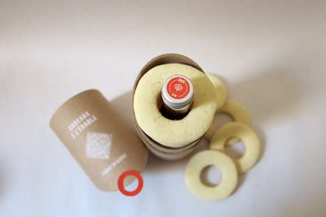 Cylindrical Maple Snack Packaging - This Snack Duo Combines Food and a Condiment