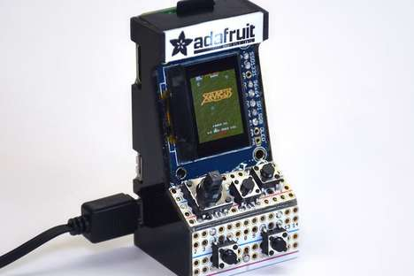 Tiny Arcade Consoles - Adafruit Built the World's Smallest Multiple Arcade Machine Emulator