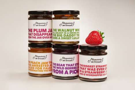 Dramatic Jam Branding - These Jam Jars Feature Over-the-Top Labeling