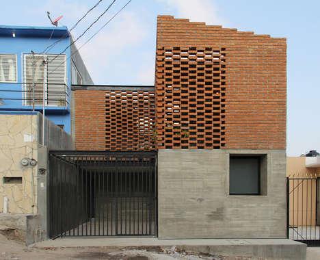 Imbricated Brick Houses