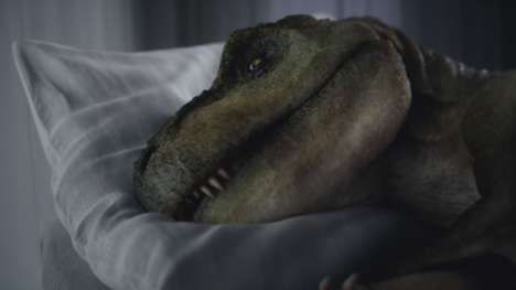 Depressed Dinosaur Auto Ads - Audi's Video Follows a Fearsome T-Rex Who Became a Laughingstock