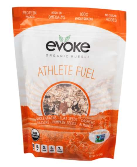 Fitness-Focused Muesli Branding - Evoke Brands Its Organic Healthy Muesli as 'Athlete Fuel'