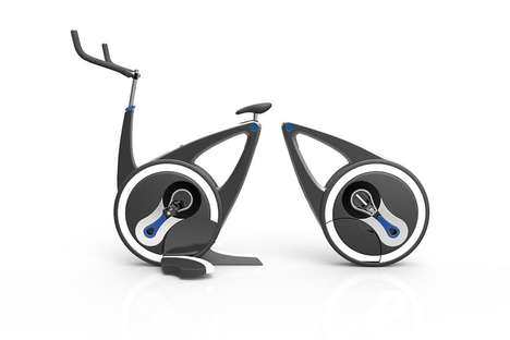 Collapsible Cycle Bikes - The Folding Spinning Bike Enables Workouts in Smaller Spaces