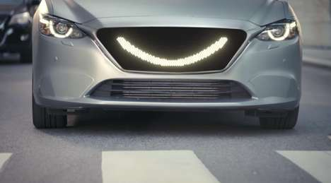Visual Communication Vehicles - 'The Smiling Car' Lets Pedestrians Know When it's Safe to Cross
